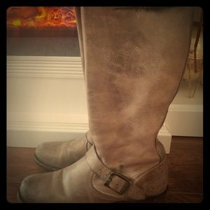 Frye gray tall boots